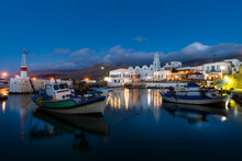View Of The Small Port Of Fri On The Northern Coast Of The Greek Island Of Kassos