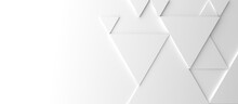 Abstract Modern White Triangle Background, 3d Rendering With Space For Text