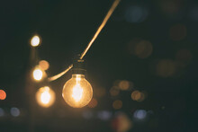 Light Bulb In Patio