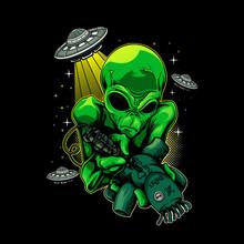 Psychic Alien Tattoo Witchcraft Doll