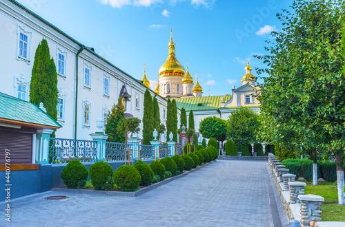 Photo The tiny courtyard of Pochaev Lavra, Ukraine