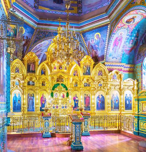 Interior of Holy Spirit Church, Pochaev Lavra, Ukraine Fototapet