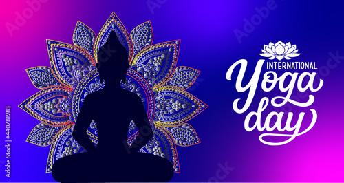 Fotografie, Obraz Meditation Abstract Spiritualism Yoga Concept is great mandala art background image for any spirital purposes