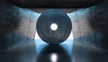 Structure In Concrete, Inside, Nobody Around.