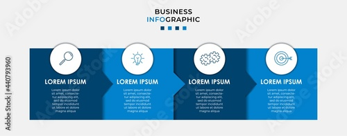 Foto Business Infographic design template Vector with icons and 4 options or steps