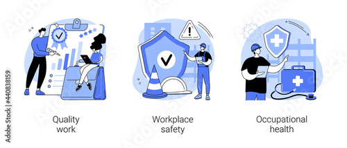 Working environment abstract concept vector illustrations.