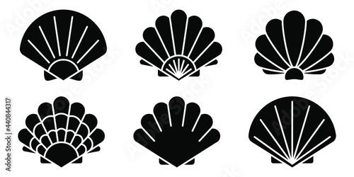 Fototapeta Sea shell icon