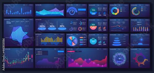 Fotografia Different UI, UX, GUI mobile screens modern infographic