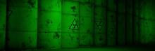 Radioactive Waste In Rusty Barrels, Background Banner