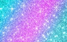 Purple And Blue Glitter Background
