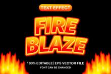 Fire Blaze 3d Editable Text Effect