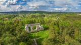 Fototapeta Kwiaty - Szlak Orlich Gniazd - ruiny zamku w Bydlinie