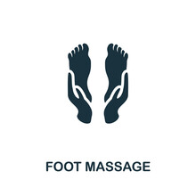 Foot Massage Icon. Monochrome Simple Element From Therapy Collection. Creative Foot Massage Icon For Web Design, Templates, Infographics And More