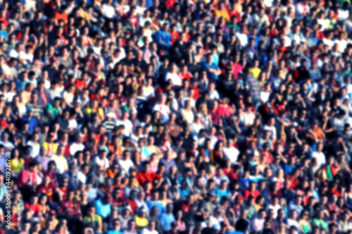 Canvas Blurred crowd of spectators in a stadium
