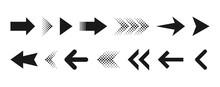 Arrow Icon. Isolated Set Of Vector Arrows