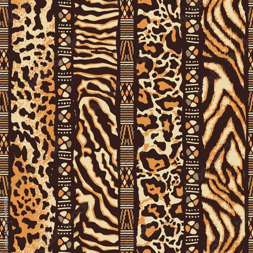 Tapety kolonialne  patchwork-w-paski-ze-skory-dzikich-zwierzat-z-afrykanskimi-motywami-plemiennymi-abstrakcyjny-wektor-wzor-bez-szwu