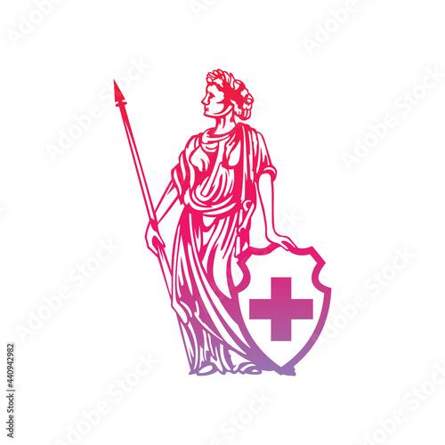 Obraz na plátně Helvetia logo abstract illustration image