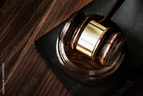 Fotografia Closeup of gavel judgement concept