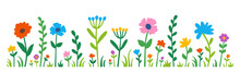 Flowers Meadow - Flower Set - For Blooming Decoration