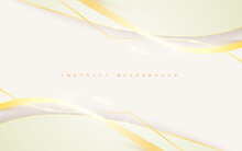 Modern White Backgroud Abstract Golden Sparkling Light