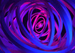 Leinwandbild Motiv Tunnel background. Neon background made up of rings. Abstract rings lead to distance. Purple rings on blue-purple background. Tunnel pattern Abstract geometric. Abstraction for pattern. 3d rendering