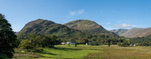 Arnison Crag And Birks From Patterdale In The Lake District, UK.