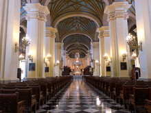 [Peru] Nave Leading To The Main Altar In Cathedral (Lima)