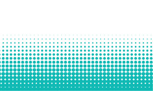 Halftone Background With Tiffany Color