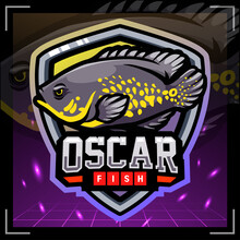 Oscar Fish Mascot. Esport Logo Design