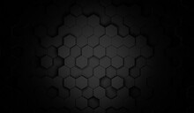 3d Hexagon Abstract Background. Technological Concept. Beautiful Texture Dark Background Illustration