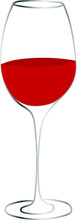 Wineglass Vector Illustration. Glass With Red Wine.