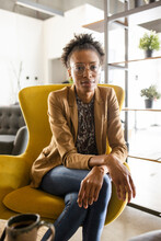 Portrait Confident Beautiful Young Businesswoman