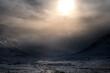 Leinwandbild Motiv Storm approaching in the Scottish Highlands