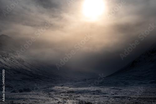Obraz na plátně Storm approaching in the Scottish Highlands