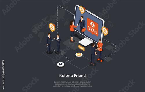 Friend Refferal Program Conceptual Design Fotobehang