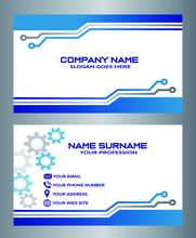 Diseño Moderno De Tarjetas De Visita. Plantilla De Diseño De Tarjeta De Visita De Doble Cara. Inspiración De Tarjeta De Visita Azul