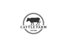 Farm Animal Logo Inspiration Vector Illustration Concept In White Backgroung