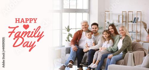 Fotografie, Obraz Big family spending time together at home