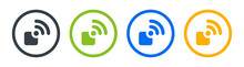 Wireless Connectivity Icon Vector Illustration. Connect With Wifi Signal Concept.