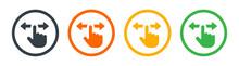 Hand Swipe Icon, Horizontal Scroll Icon. Screen Slide Icon, Symbol, Design. Vector Illustration .