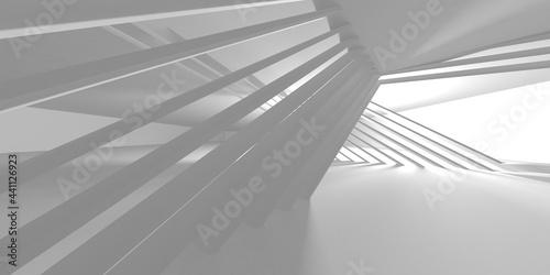 White Modern Background. Abstract Building Concept Fototapeta