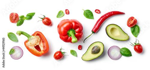 Fotografiet various fresh vegetables