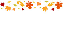 Autumn Background With A Set Of Leaves. Vector Graphics