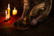 Jesus Christ Washing The Feet Of His Disciples