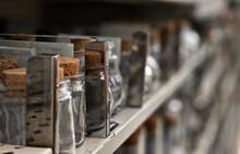 Shelves Of Glass Bottle