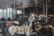View Of Carousel In Brooklyn At Amusement Park
