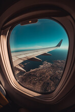 Aerial View Of Airplane Window