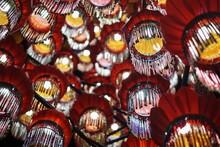Low Angle View Of Illuminated Lanterns