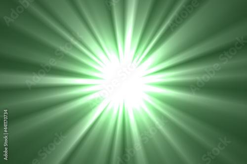 Ilustracja przedstawiająca rozbłysk światła na kolorowym tle.