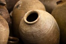 Close Up Of Clay Pots